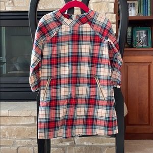 Gap kids red plaid dress- holiday colors!